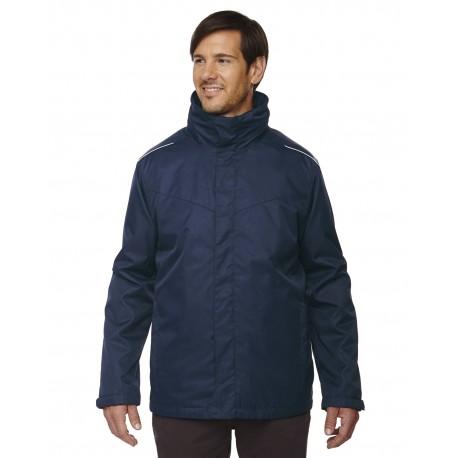 88205T Core 365 88205T Men's Tall Region 3-in-1 Jacket with Fleece Liner CLASSIC NAVY 849