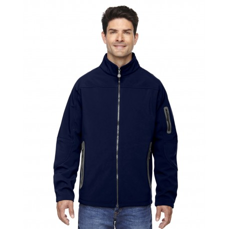 88138 North End 88138 Men's Three-Layer Fleece Bonded Soft Shell Technical Jacket CLASSIC NAVY 849
