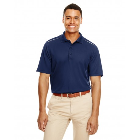 88181R Core 365 88181R Men's Radiant Performance Pique Polo with Reflective Piping CLASSIC NAVY 849