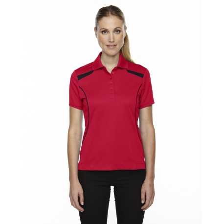 75112 Extreme 75112 Ladies' Eperformance' Tempo Recycled Polyester Performance Textured Polo CLASSIC RED 850