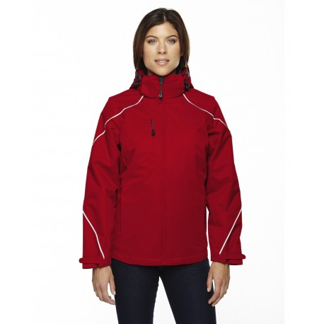 78196 North End 78196 Ladies' Angle 3-in-1 Jacket with Bonded Fleece Liner CLASSIC RED 850