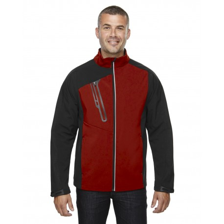 88176 North End 88176 Men's Terrain Colorblock Soft Shell with Embossed Print CLASSIC RED 850