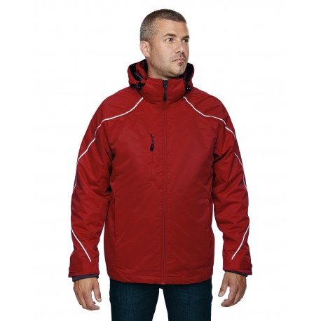 88196 North End 88196 Men's Angle 3-in-1 Jacket with Bonded Fleece Liner CLASSIC RED 850