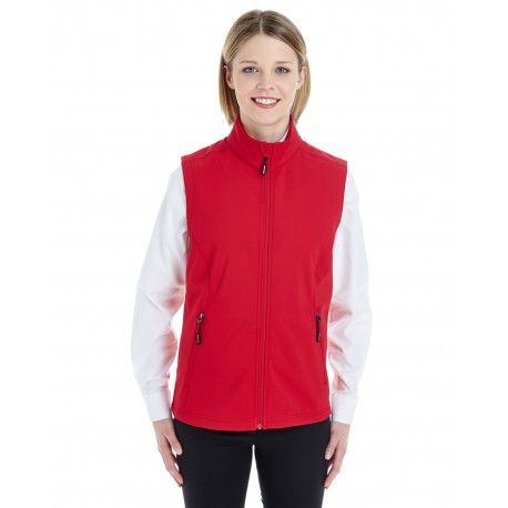 CE701W Core 365 CE701W Ladies' Cruise Two-Layer Fleece Bonded Soft Shell Vest CLASSIC RED 850