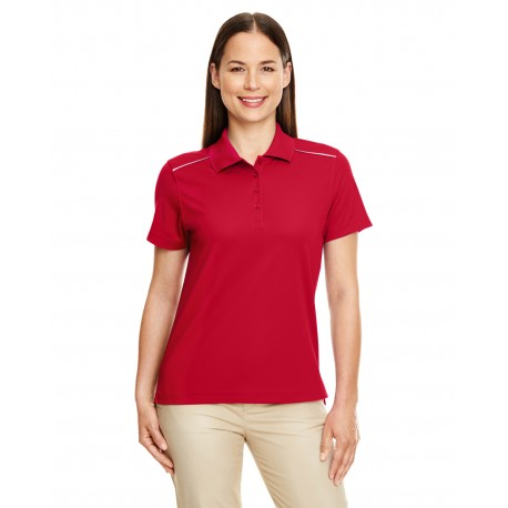 78181R Core 365 78181R Ladies' Radiant Performance Pique Polo with Reflective Piping CLASSIC RED 850