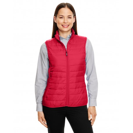 CE702W Core 365 CE702W Ladies' Prevail Packable Puffer Vest CLASSIC RED 850