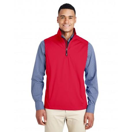 CE709 Core 365 CE709 Men's Techno Lite Three-Layer Knit Tech-Shell Quarter-Zip Vest CLASSIC RED 850