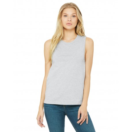 B6003 Bella + Canvas B6003 Ladies' Jersey Muscle Tank ATHLETIC HEATHER