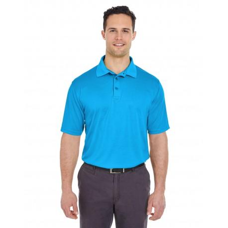 8220 UltraClub 8220 Men's Cool & Dry Jacquard Stripe Polo COAST