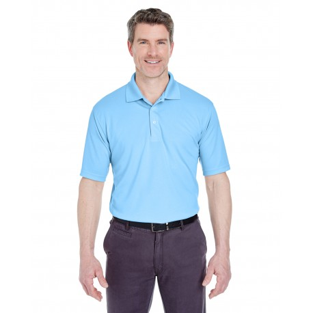 8445 UltraClub 8445 Men's Cool & Dry Stain-Release Performance Polo COLUMBIA BLUE