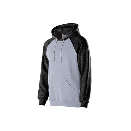 229279 Holloway 229279 Youth Cotton/Poly Fleece Banner Hoodie ATHLTC HTHR/BLK