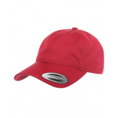 6245CM Yupoong 6245CM Adult Low-Profile Cotton Twill Dad Cap CRANBERRY