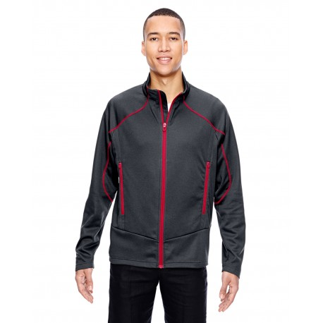 88806 North End 88806 Men's Cadence Interactive Two-Tone Brush Back Jacket CRBN/OLY RD 467