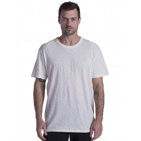 US3200 US Blanks US3200 Men's Short-Sleeve Slub Crewneck T-Shirt Garment-Dyed CREAM