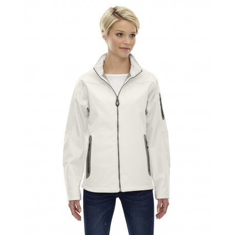 78060 North End 78060 Ladies' Three-Layer Fleece Bonded Soft Shell Technical Jacket CRYSTL QRTZ 695