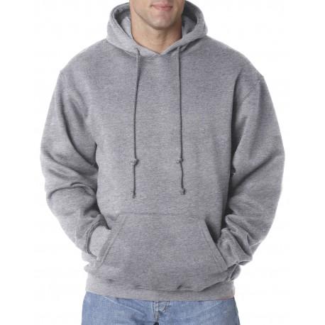 BA960 Bayside BA960 Adult Hooded Pullover Fleece DARK ASH