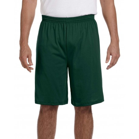 915 Augusta Sportswear 915 Adult Longer-Length Jersey Short DARK GREEN