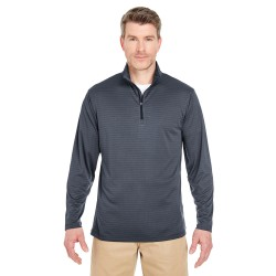 UltraClub 8235 Adult Striped Quarter-Zip Pullover