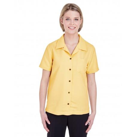 8981 UltraClub 8981 Ladies' Cabana Breeze Camp Shirt BANANA