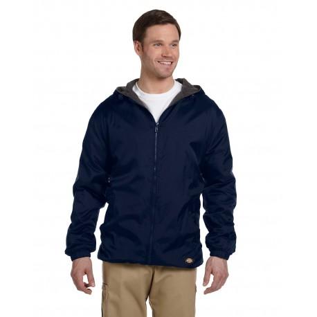 33237 Dickies 33237 Men's Fleece-Lined Hooded Nylon Jacket DARK NAVY