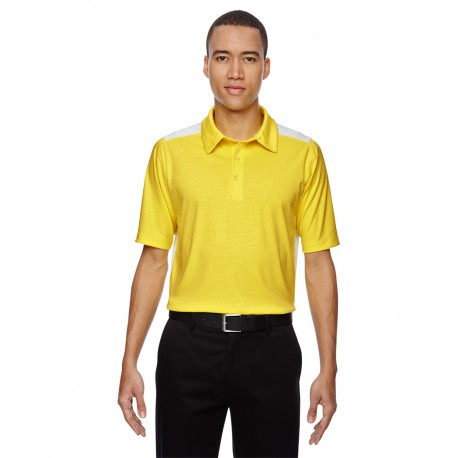 88691 North End 88691 Men's Reflex UTK cool?logik Performance Embossed Print Polo BANANA YELW 473