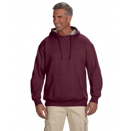 EC5570 Econscious EC5570 Adult 7 oz. Organic/Recycled Heathered Fleece Pullover Hood BERRY
