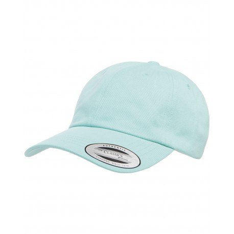 6245PT Yupoong 6245PT Adult Peached Cotton Twill Dad Cap DIAMOND BLUE