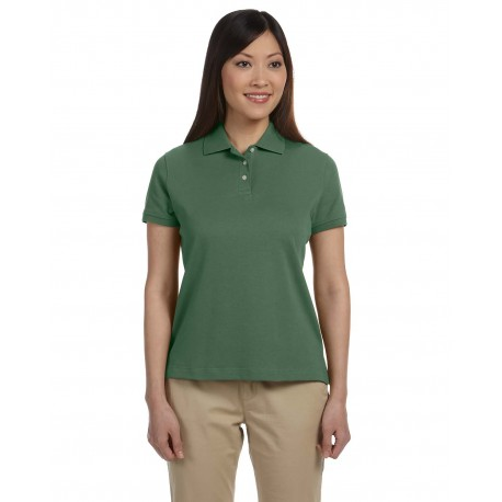 D140SW Devon & Jones D140SW Ladies' Solid Perfect Pima Interlock Polo DILL
