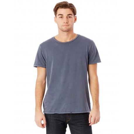 04850C1 Alternative 04850C1 Men's Heritage Garment-Dyed Distressed T-Shirt DK BLUE PIGMNT
