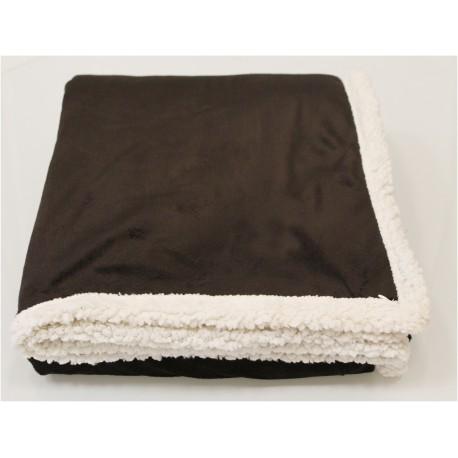 CHL5060 Pro Towels CHL5060 Challenger Lambswool Throw Kanata Blanket DK CHOCOLATE
