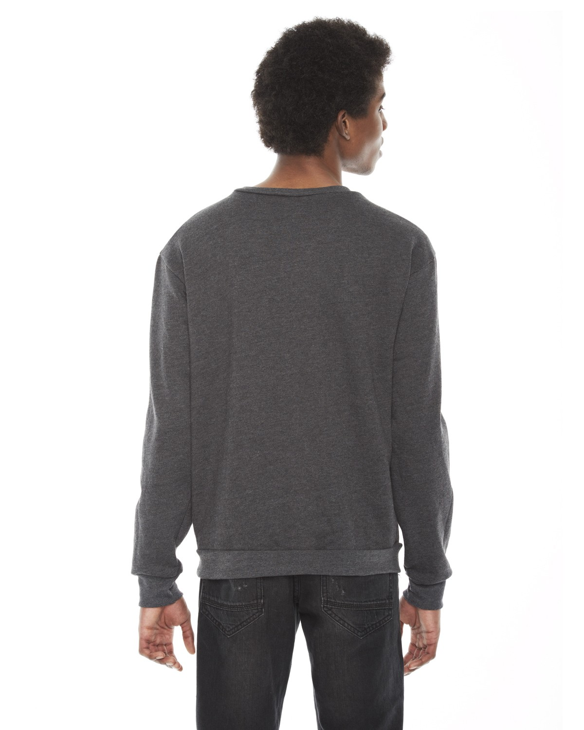 F496W American Apparel DK HEATHER GREY