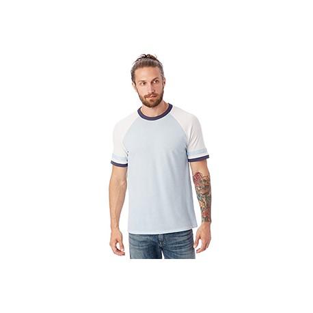 5093BP Alternative 5093BP Men's Slapshot Vintage Jersey T-Shirt BL SKY/WHT/NVY