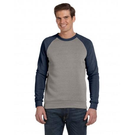 AA3202 Alternative AA3202 Unisex Champ Eco-Fleece Colorblocked Sweatshirt EC GRY/EC T NVY