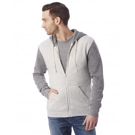 AA3202 Alternative AA3202 Unisex Champ Eco-Fleece Colorblocked Sweatshirt EC OATML/EC GRY