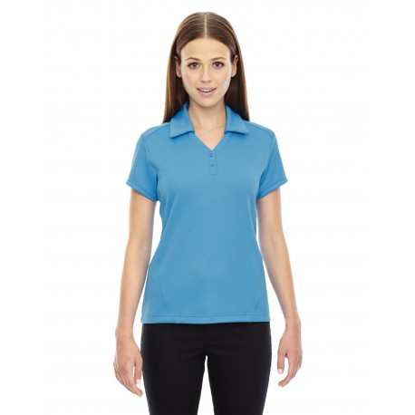 78803 North End 78803 Ladies' Exhilarate Coffee Charcoal Performance Polo with Back Pocket ELECT BLUE 485