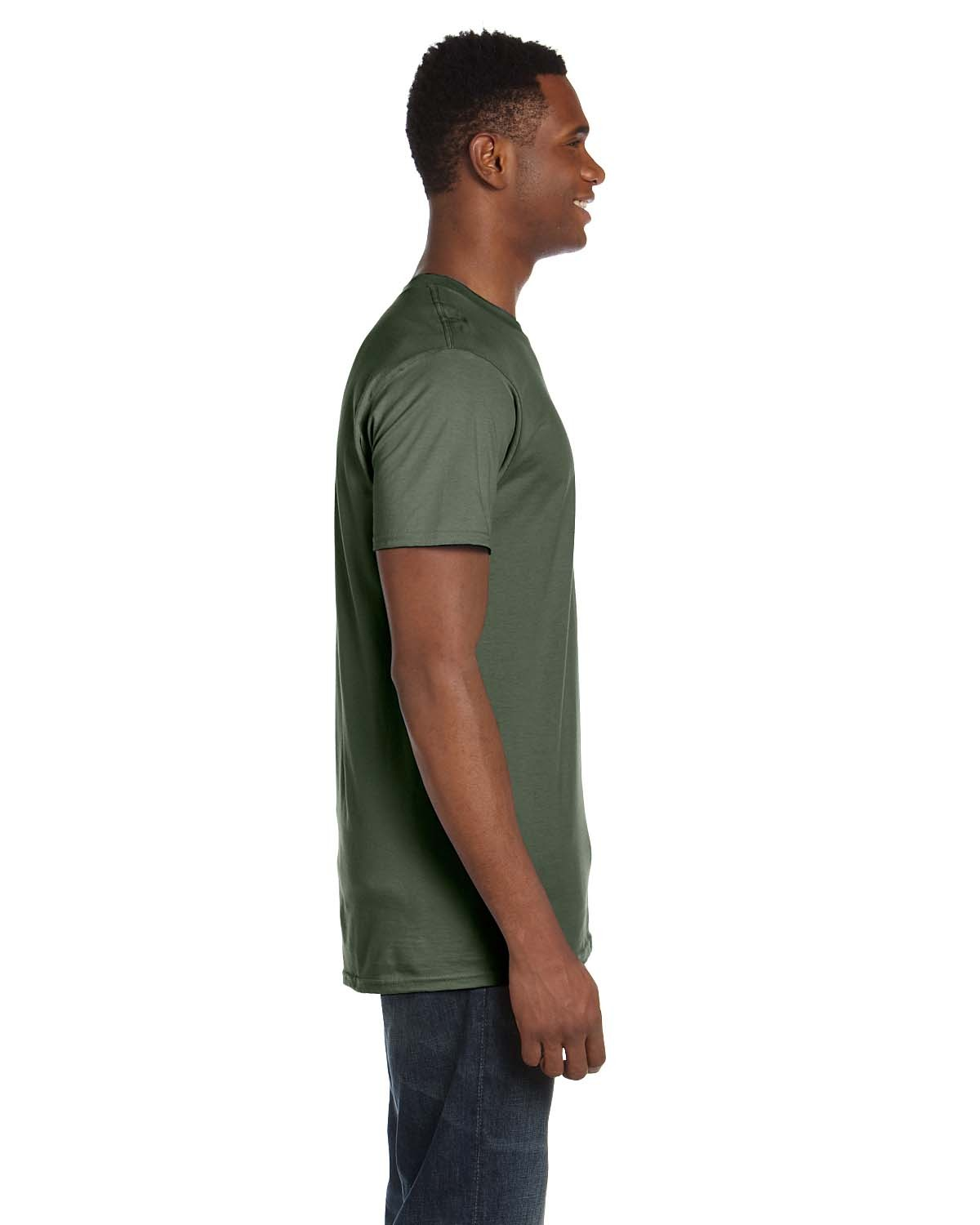 4980 Hanes FATIGUE GREEN