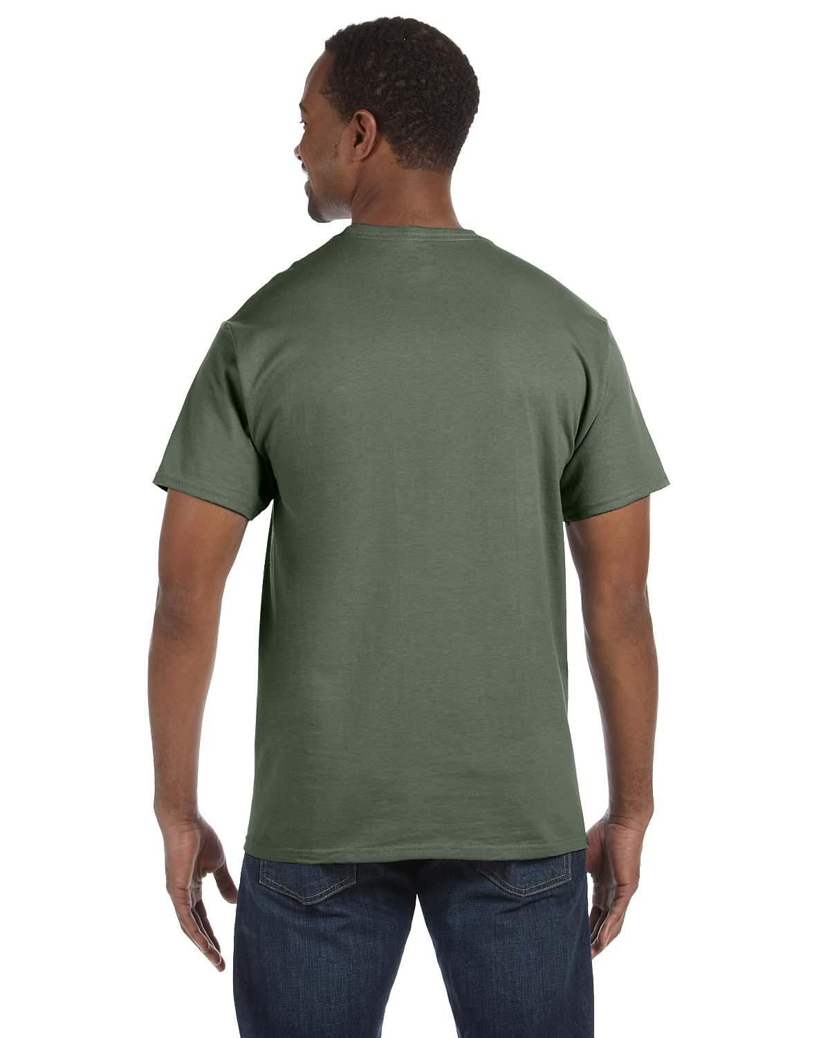 5250T Hanes FATIGUE GREEN