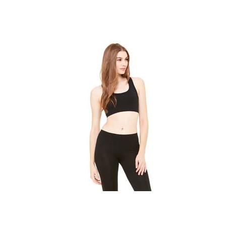 970 Bella + Canvas 970 Ladies' Nylon/Spandex Sports Bra BLACK