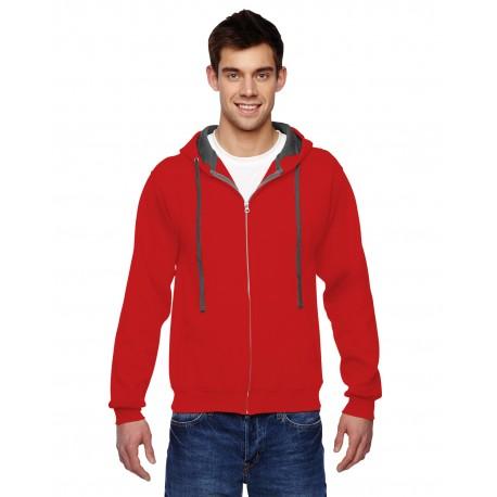 SF73R Fruit of the Loom SF73R Adult 7.2 oz. SofSpun Full-Zip Hooded Sweatshirt FIERY RED