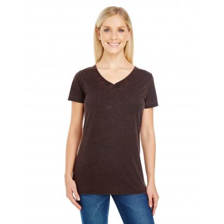 215B Threadfast Apparel 215B Ladies' Cross Dye Short-Sleeve V-Neck T-Shirt FLAME