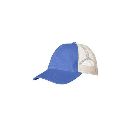 105 Comfort Colors 105 Unstructured Trucker Cap FLO BLUE/IVORY