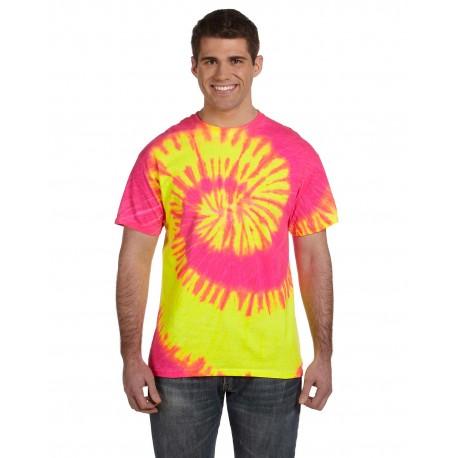 CD100 Tie-Dye CD100 Adult 5.4 oz., 100% Cotton Tie-Dyed T-Shirt FLUORESCENT SWRL