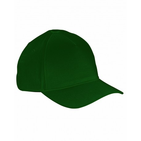 BX034 Big Accessories BX034 5-Panel Brushed Twill Cap FOREST