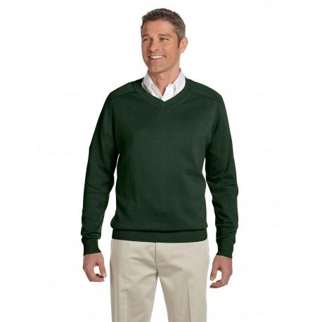 D475 Devon & Jones D475 Men's V-Neck Sweater FOREST