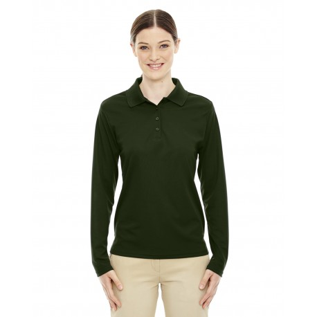 78192 Core 365 78192 Ladies' Pinnacle Performance Long-Sleeve Pique Polo FOREST 630