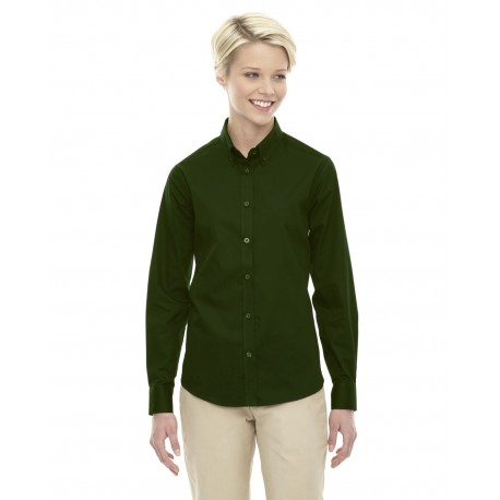 78193 Core 365 78193 Ladies' Operate Long-Sleeve Twill Shirt FOREST 630