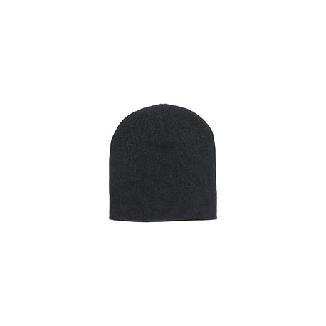1500 Yupoong 1500 Adult Knit Beanie BLACK