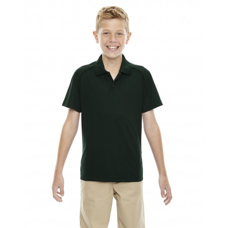 65108 Extreme 65108 Youth Eperformance Shield Snag Protection Short-Sleeve Polo FOREST 630