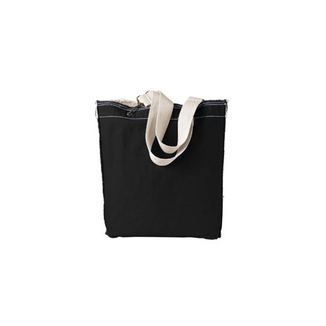 1906 Authentic Pigment 1906 14 oz. Direct-Dyed Raw-Edge Tote BLACK