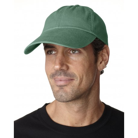 ACSB101 Adams ACSB101 Cotton Twill Pigment-Dyed Sunbuster Cap FOREST GREEN